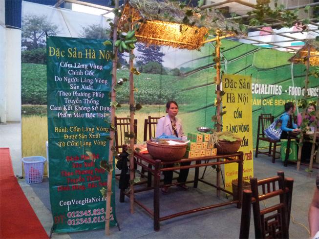 Cốm Làng Vòng Bà Hoản tại Hội chợ quà tặng hàng thủ công mỹ nghệ Hà Nội 2013
