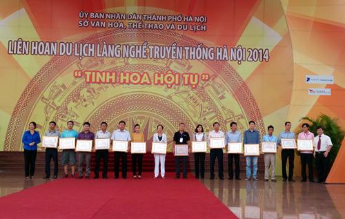Cốm Làng Vòng Bà Hoản tham gia liên hoan du lịch làng nghề truyền thống Hà Nội 2014